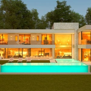 A stunning contemporary designed villa with spectacular panoramic views over the golf | Alquería A-9