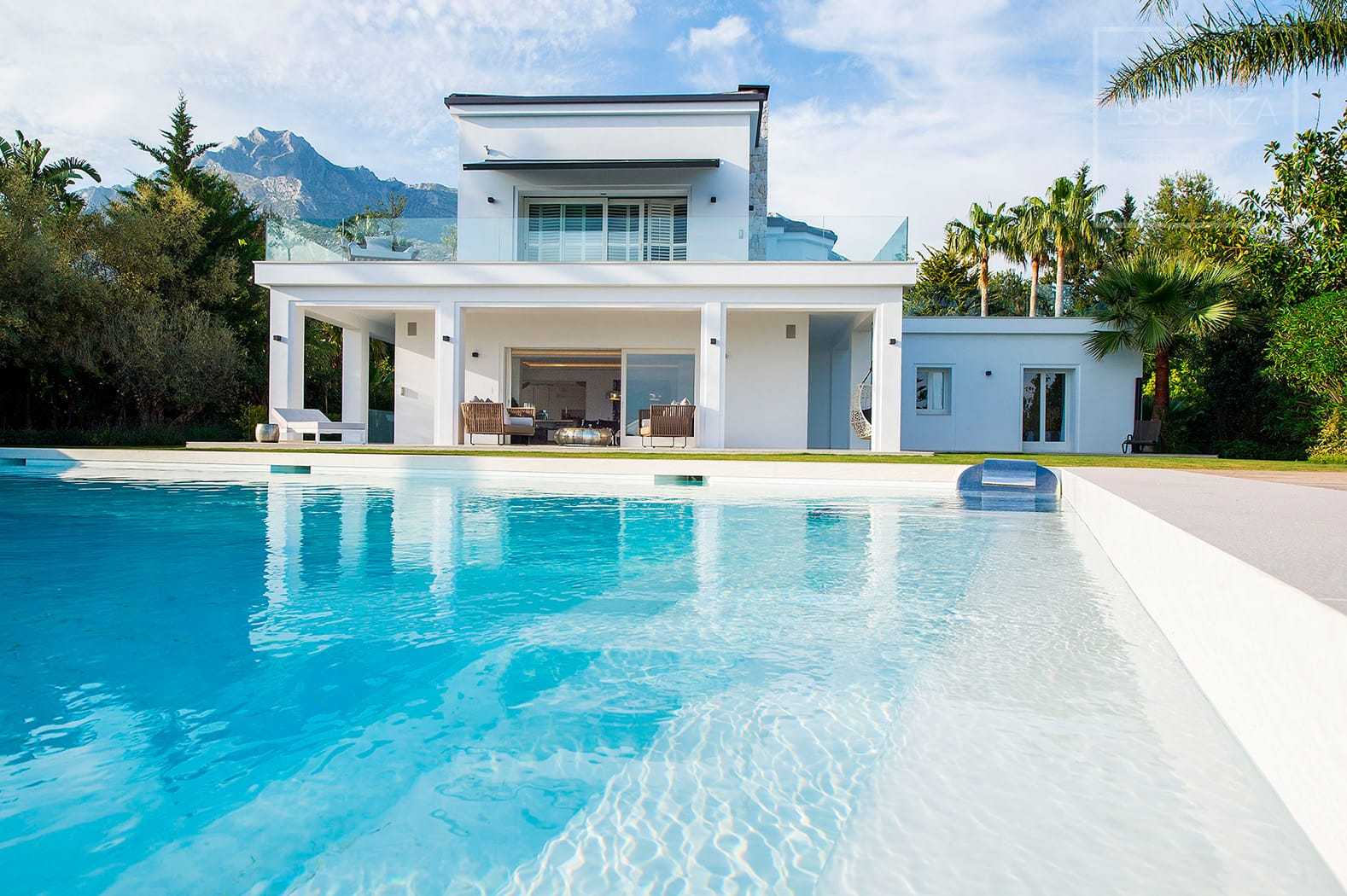 Sierra Blanca, A eyecatching transformation of a traditional, Spanish style villa into a modern looking property.